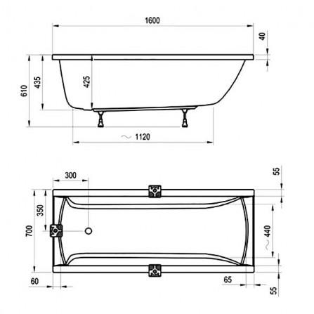 Ravak Classic Ванна 160x70