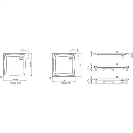 Ravak Perseus-100 LA Поддон A02AA01210
