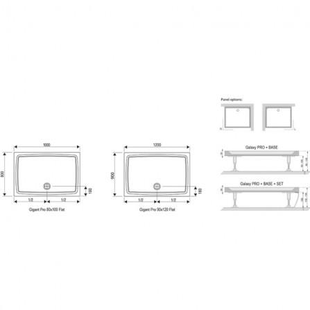 Ravak Gigant Pro 120x90 Flat Поддон