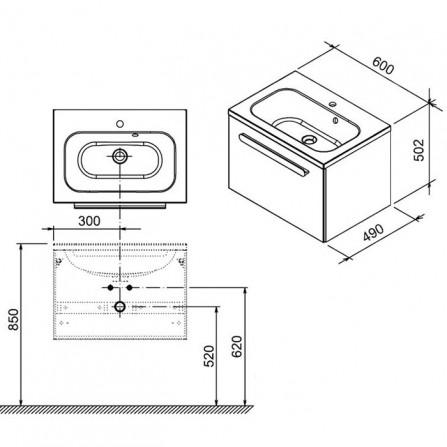 Ravak Chrome SD 600 Тумба под раковину X000000530