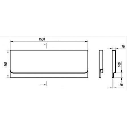 Ravak Chrome 150 Панель фронтальная CZ72100A00
