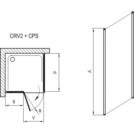 Ravak Chrome CPS-100 Неподвижная стенка 9QVA0C00Z1