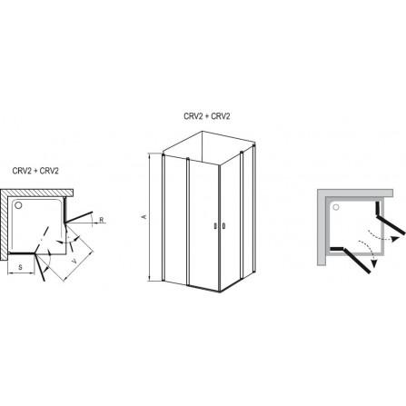 Ravak Chrome CRV2-100 Элемент душевого уголка 1QVA0C00Z1