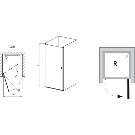 Ravak Chrome CSD1-80 Душевая дверь 0QV40C00Z1