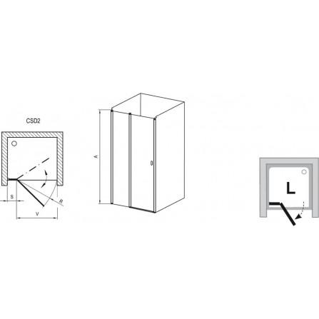 Ravak Chrome CSD2-100 Душевая дверь 0QVACC00Z1