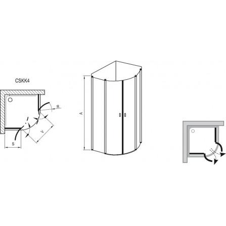 Ravak Chrome CSKK4-80 Душевой уголок 3Q140C00Z1