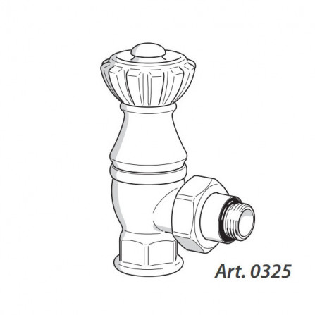 SR Rubinetterie Liberty Вентиль верхний угловой антрацит 0325-2000V00P