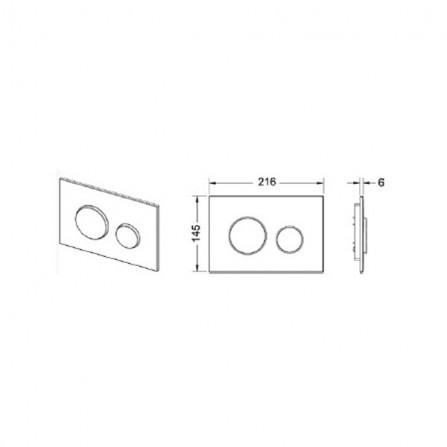 Tece Инсталляция 4 в 1 для подвесного унитаза K400600