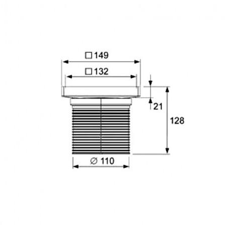 """TECEdrainpoint Основа для плитки """"plate"""" 150 мм с монтажным элементом 3660011"""