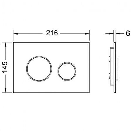 TECEloop Панель смыва с двумя клавишами 9.240.625