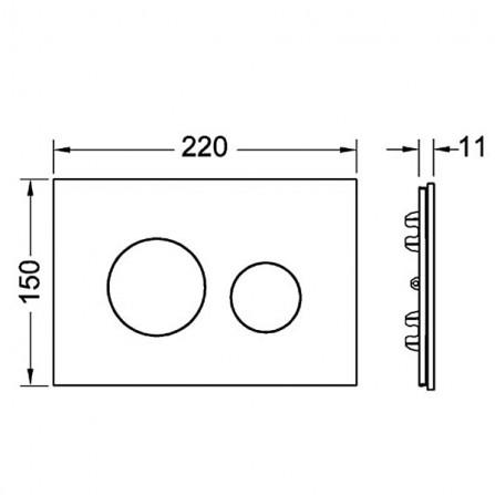 TECEloop modular Лицевая панель 9 240 670