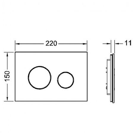 TECEloop modular Лицевая панель 9 240 676