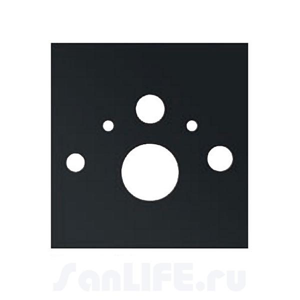 TECElux Нижняя панель для установки унитаза-биде, стекло черное 9650106