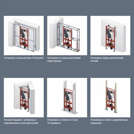 TECElux 400 Инсталляция для унитаза 112 см 9 600 400