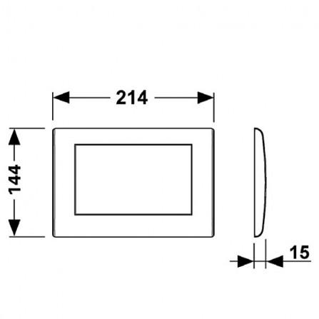 TECEplanus Панель смыва с одной клавишей 9.240.312