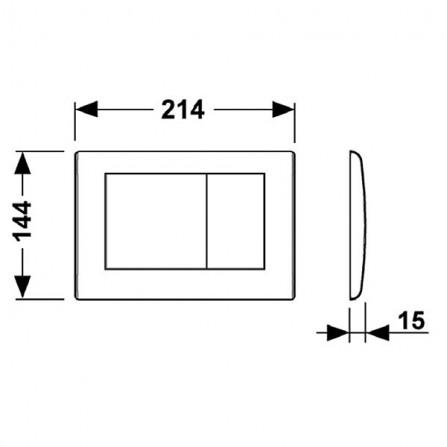TECEplanus Панель смыва с двумя клавишами 9 240 322