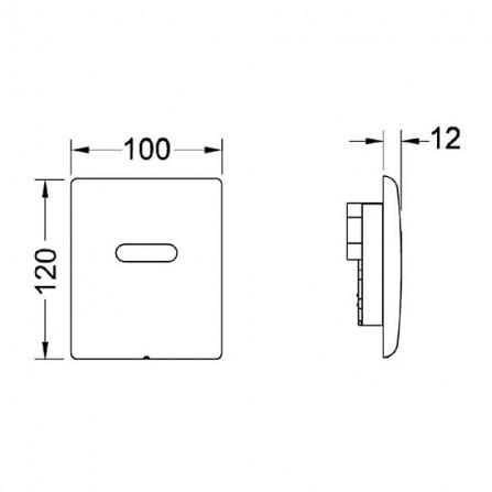 TECEplanus Urinal 230/12 В Панель смыва электронная 9 242 353