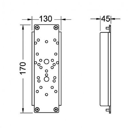 Tece Панель для установки поддерживающих поручней 9 042 010