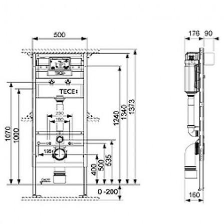 Tece Инсталляция для унитаза Keramag Espital 9300066