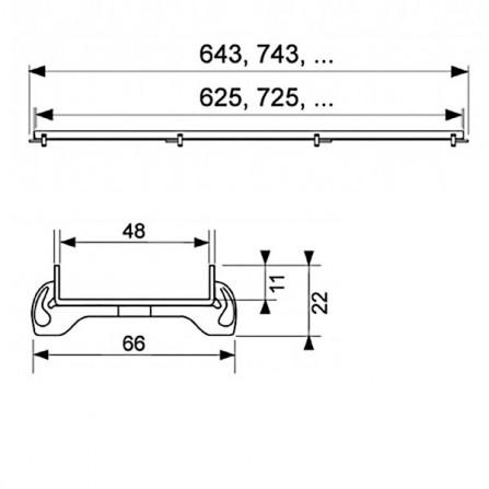 Tece drainline 90 Основа для плитки Plate 600970