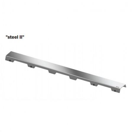 Tece drainline 120 Декоративная решетка Steel II 601282