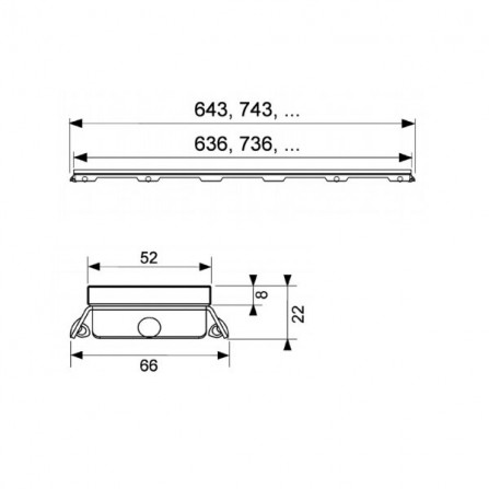 Tece drainline 70 Стеклянная панель зеленая 600790