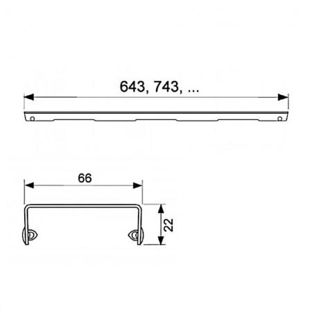Tece drainline 70 Декоративная решетка Drops 600730