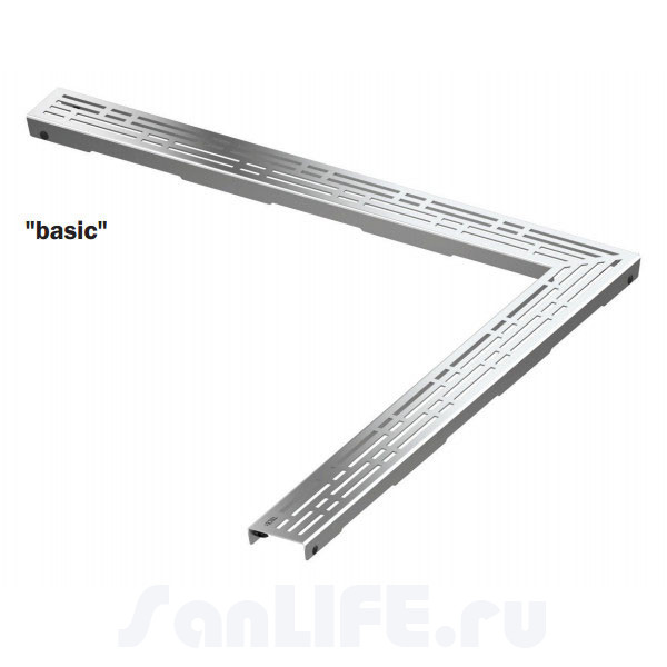 TECEdrainline Угловая декоративная решетка Basic 150х150 611510