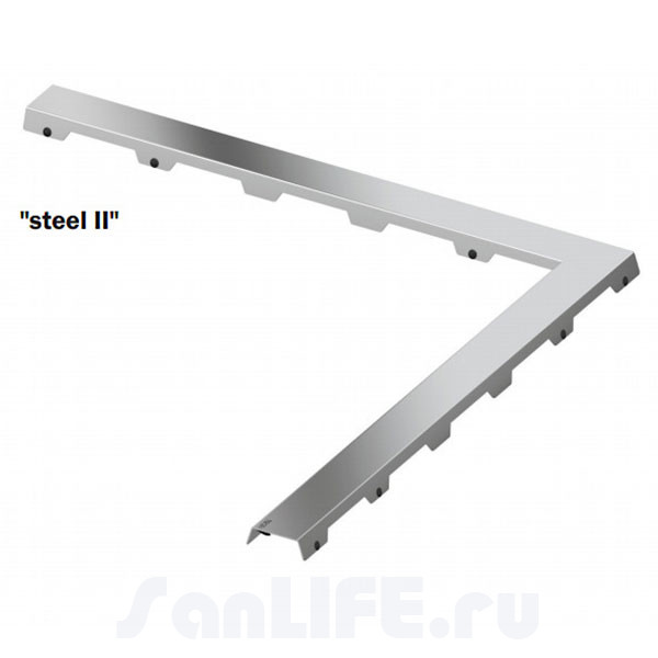 TECEdrainline Угловая декоративная панель Steel II 100х100 611082