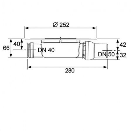 TECEdrainpoint Сифон для террас и балконов 3601401