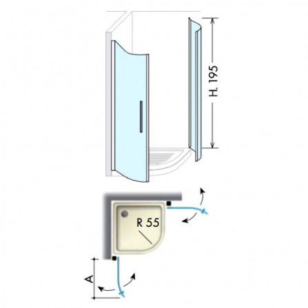 Box Docce 2B IBIS Душевой уголок 900х900 мм 85B0CSA0