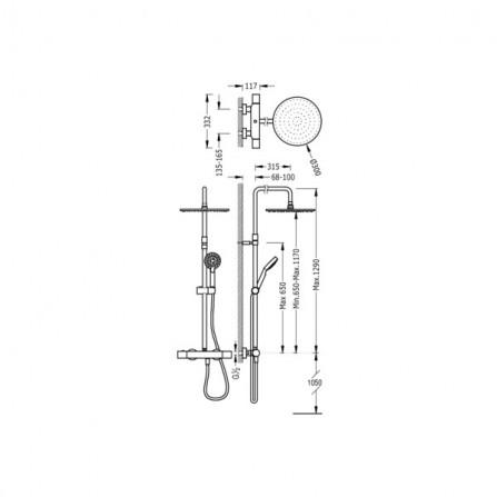 Tres Душевая система для душа 06121001