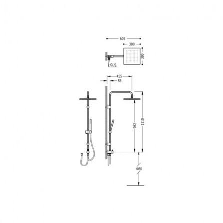Tres Душевая система с переключателем 06163508