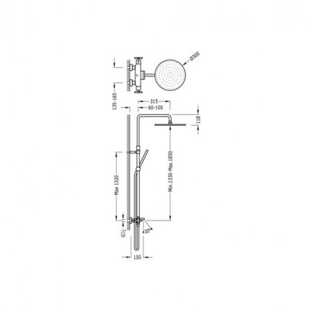 Tres Душевая система для ванны 06331201