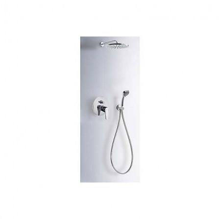 Tres Душевой комплект, СМ Смеситель, 2 потребителя, верхний и ручной души 07099002