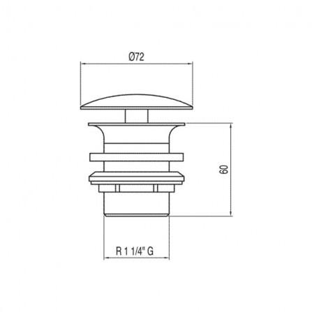 Tres Сливной вентиль для раковин без перелива 13424010