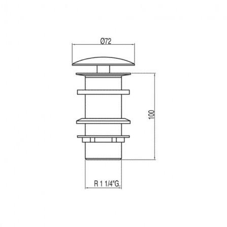 Tres Сливной вентиль для раковин без перелива 13424030