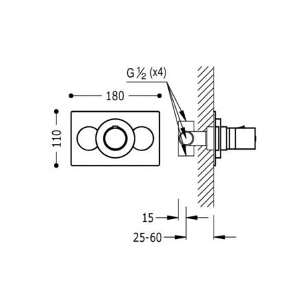 Tres Термостат для ванны, СМ 190150