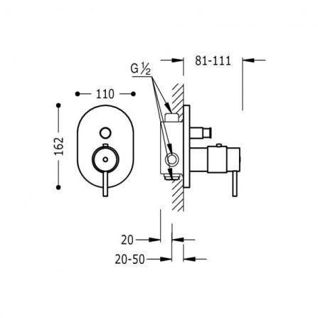 Tres Термостат для ванны, СМ 190552