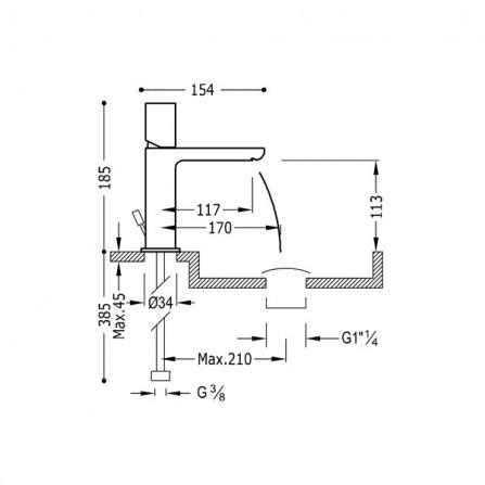 Tres Loft Смеситель для раковины 20010302D