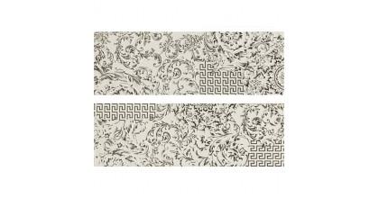 Versace Gold Decori Patchwork Bianco/Platino Микс из 2х декоров 25x75 см 68800