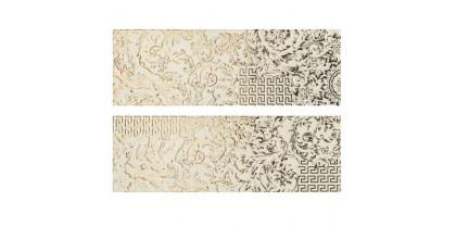 Versace Gold Decori Patchwork Crema/Oro Микс из 2х декоров 25x75 см 68802