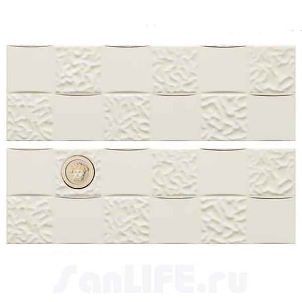 Versace Gold Decori Acqua/Dama Decorato Bianco/Platino Микс из 8х декоров 25x75 см 68850