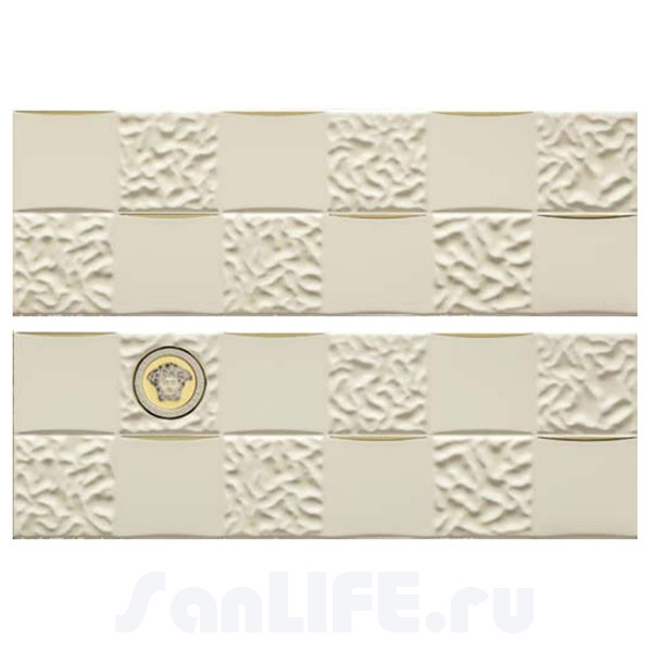 Versace Gold Decori Acqua/Dama Decorato Crema/Oro Микс из 8х декоров 25x75 см 68852